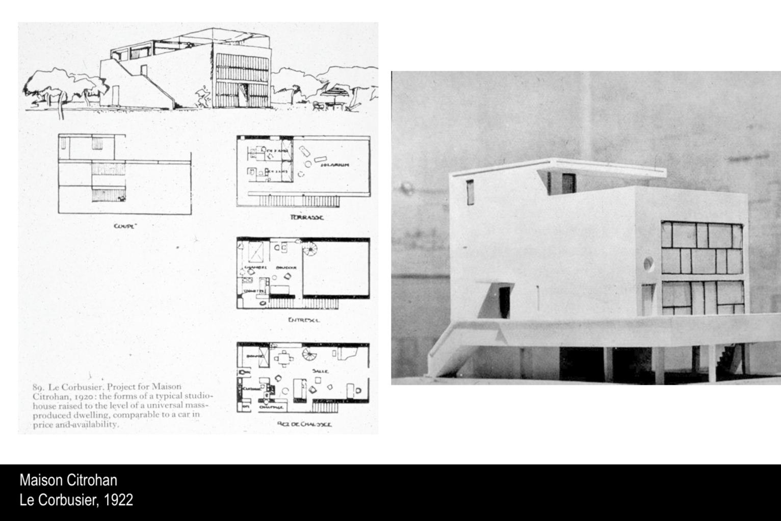 Maison Citrohan Le Corbusier 1922 Le Corbusier Plan
