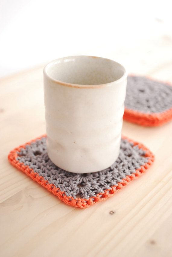 crafty ideas modern coasters. Modern Coasters  Crochet Pattern PDF Blocky House Warming Gift Ideas Table Ware Home Decor Square