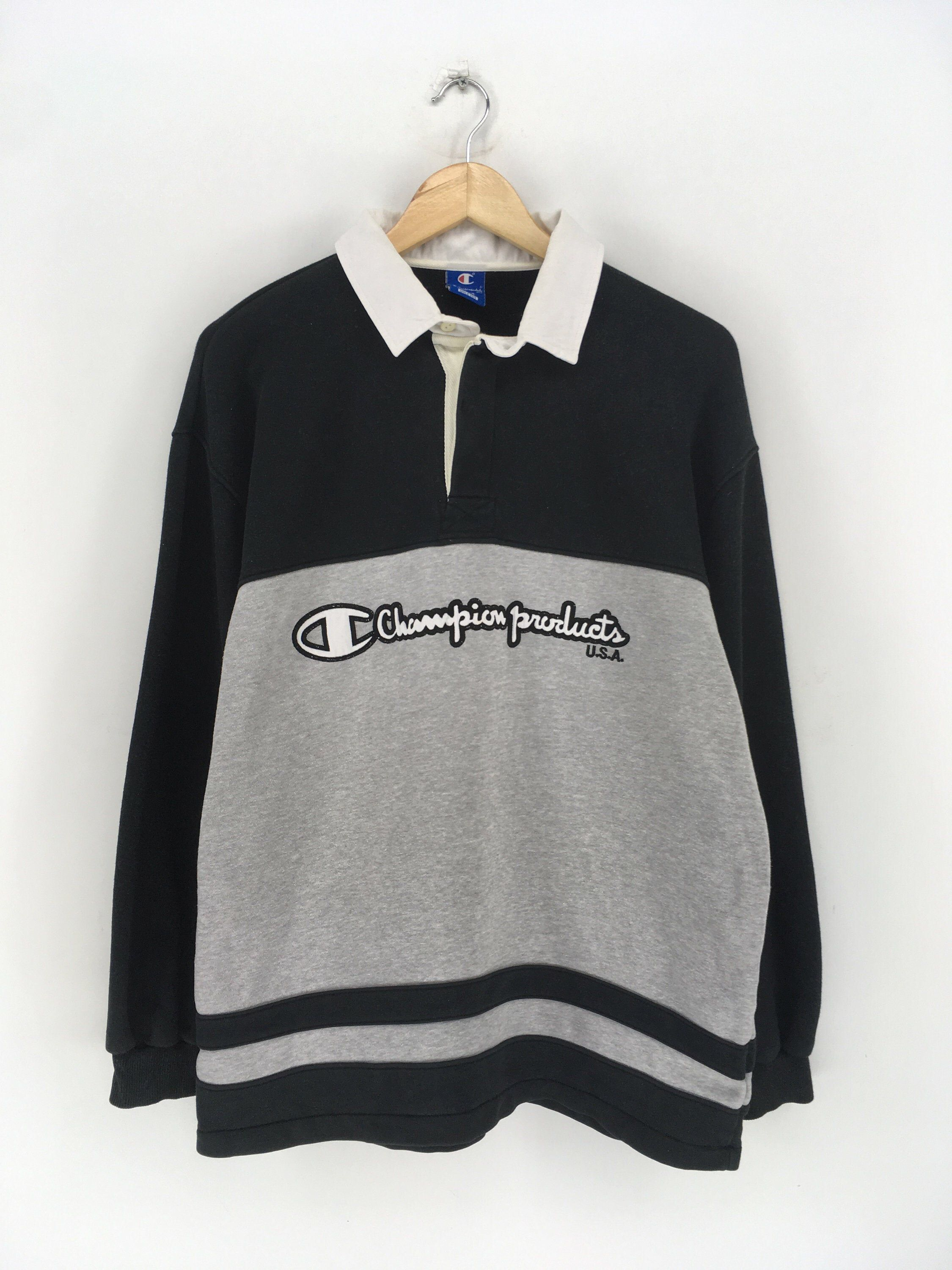 Excited To Share The Latest Addition To My Etsy Shop Champion Polos Shirt Large Vintage 1990s Polo Shirt Outfits Vintage Nike Sweatshirt Striped Sweatshirts [ 3000 x 2250 Pixel ]