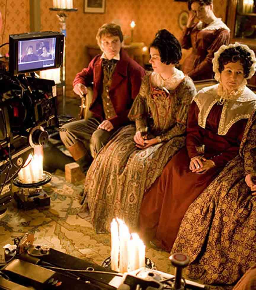 Filming the BBC series Cranford  Notice the use of natural