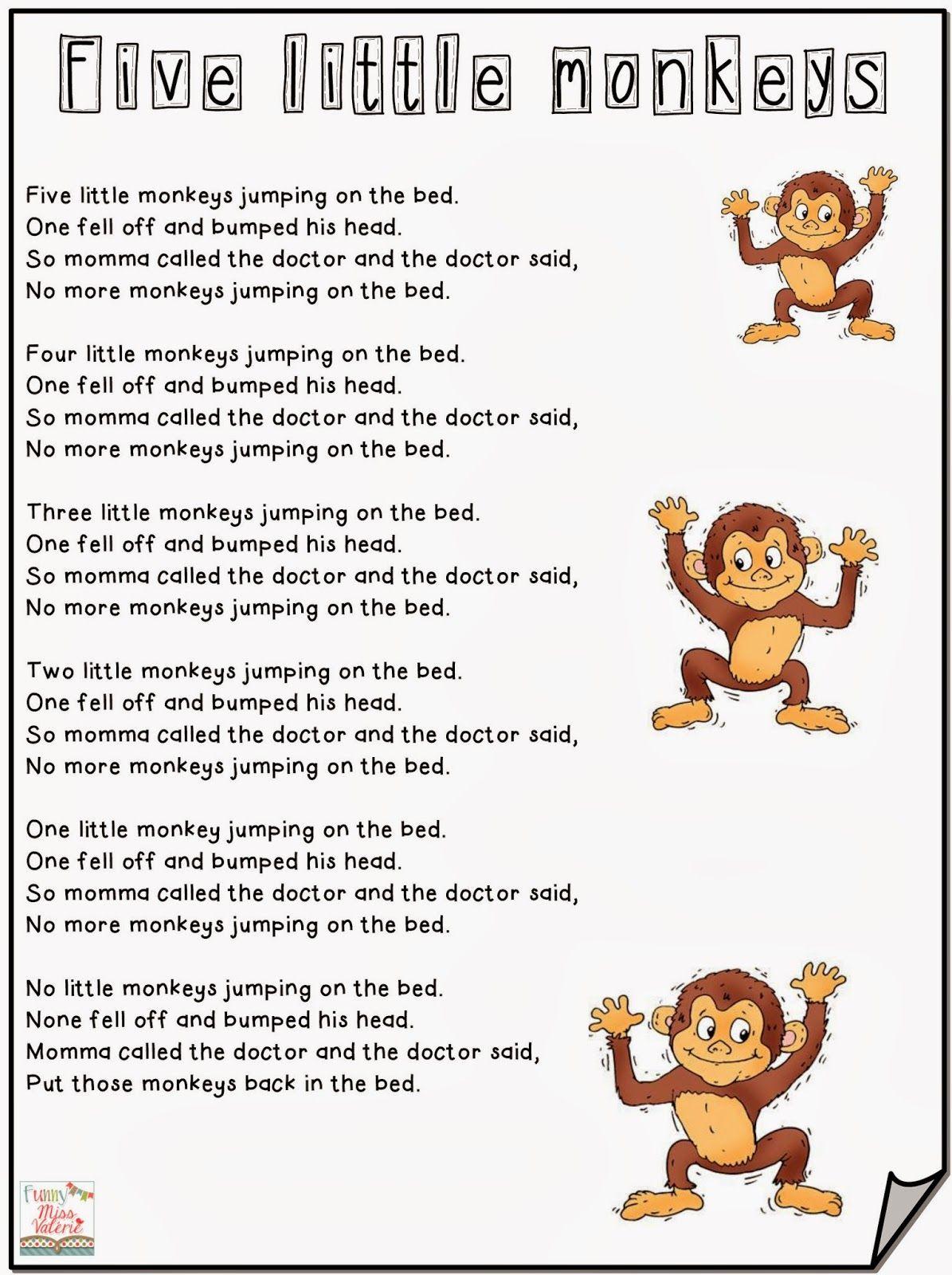 Contenido De La Entrada If You Re Happy Five Little Monkeys Ten Green Bottles Old Mcd Letras De Canciones Infantiles Canciones Infantiles Canciones Preescolar