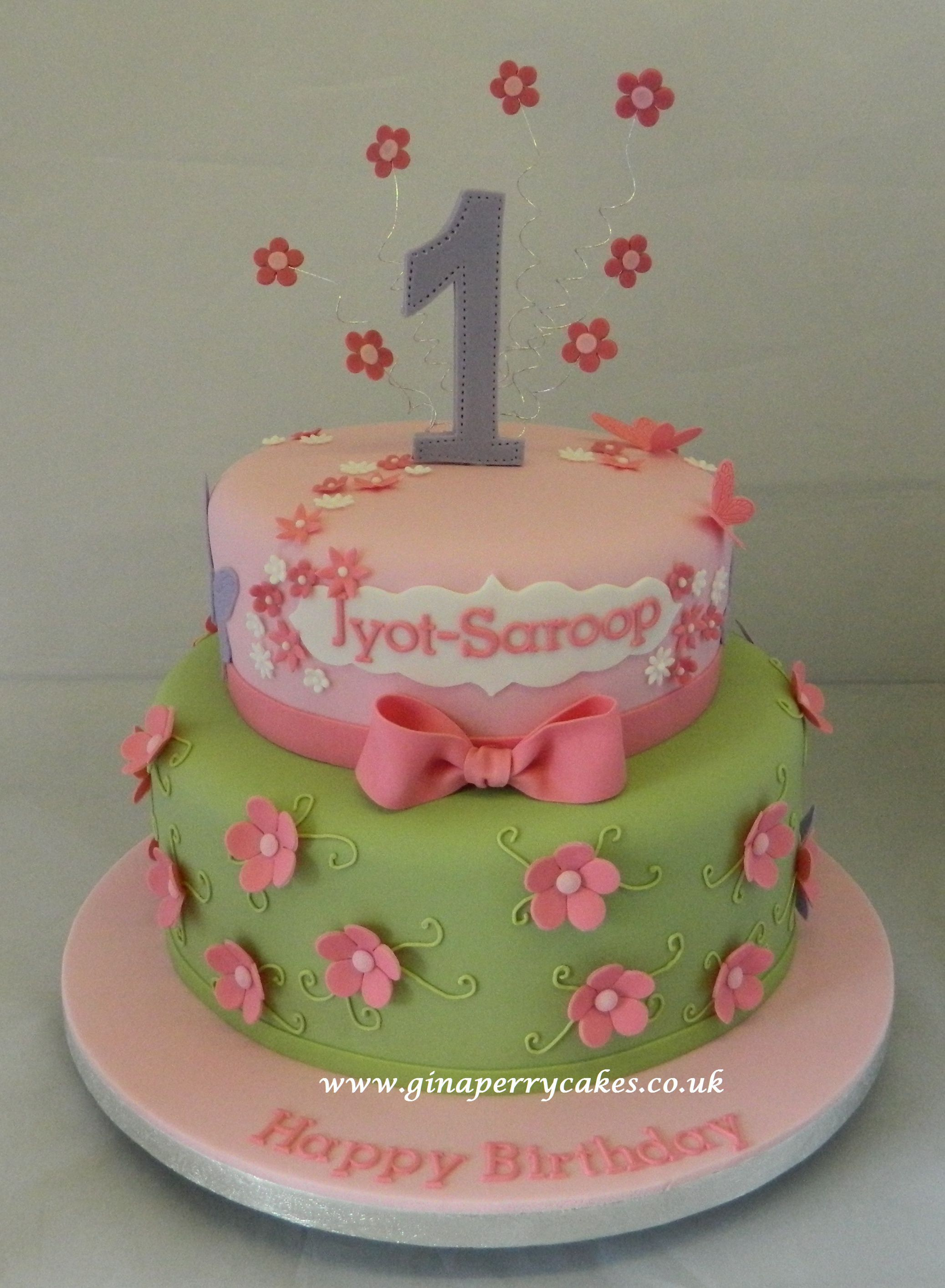 Pretty design for a year old my celebration cakes pinterest