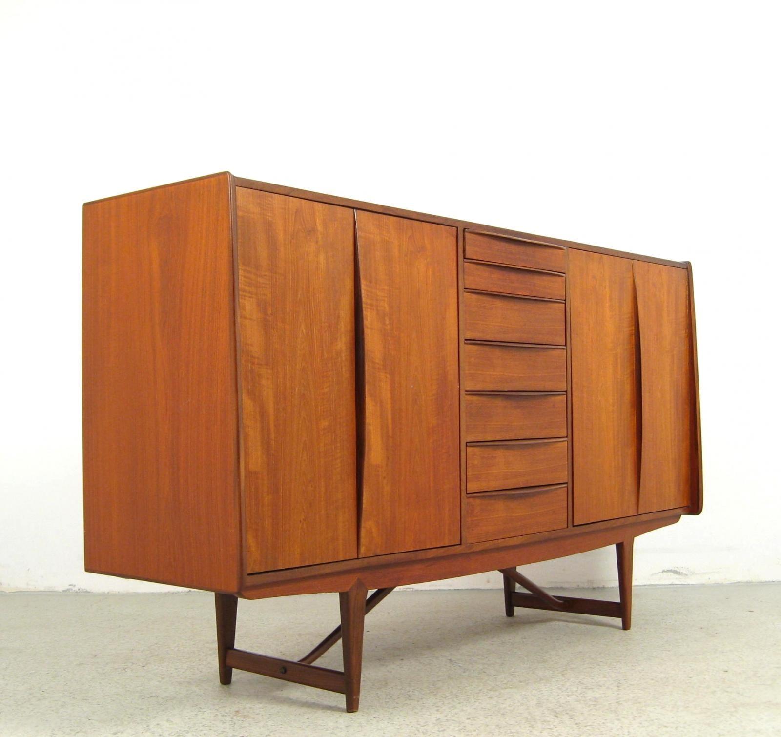areaneo teakwood 60s highboard denmark 1960 lauritz. Black Bedroom Furniture Sets. Home Design Ideas