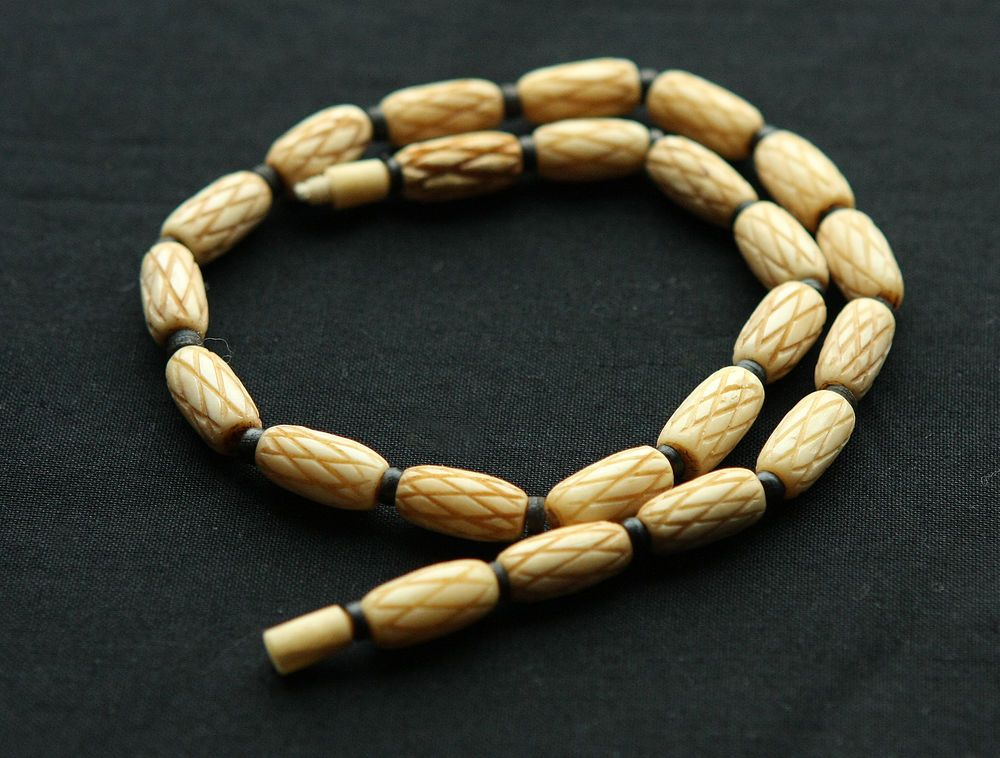jewelry buffalo design cz natural trim unique custom item wholesale necklace wt white beads bead hotsale real micro bone gold plated