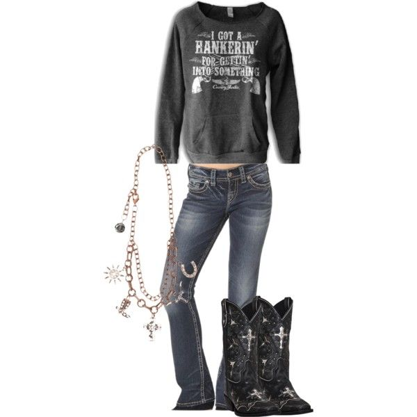 Country Girl by woodburyoutfitters on Polyvore featuring country