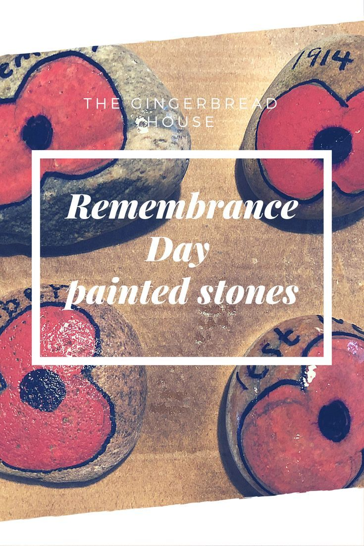 Remembrance Day painted stones - the-gingerbread-house.co.uk