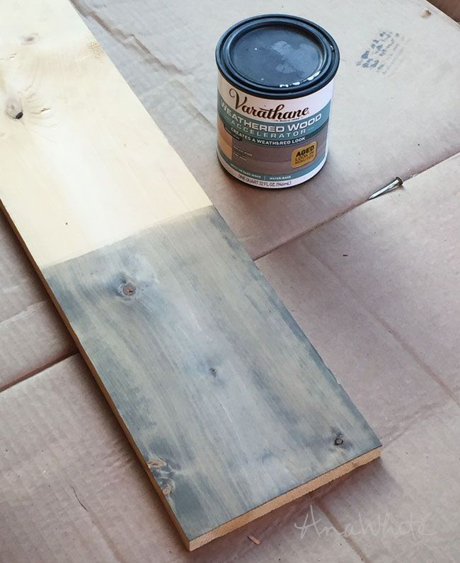 Brand new Varathane Weathered Wood Accelerator | Ana White Woodworking  SH93