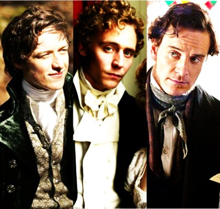 ames McAvoy - Becoming Jane ; Tom Hiddleston - Miss Austen Regrets ; Michael Fassbender - Jane Eyre