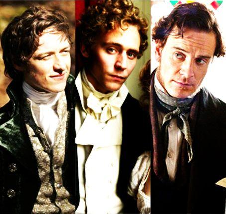 ames McAvoy - Becoming Jane ; Tom Hiddleston - Miss Austen Regrets ; Michael Fassbender - Jane Eyre