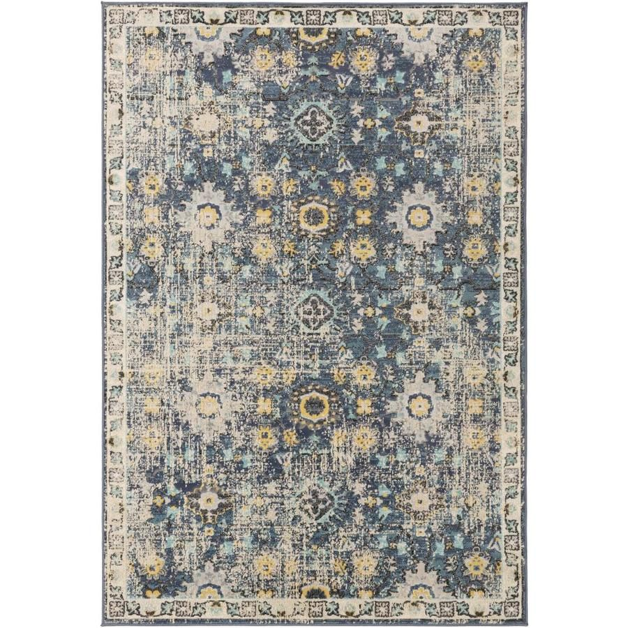 Surya City 7 Ft10 In X 10 Ft3 In Updated Traditional Area Rug Navy Cit2371 710103 In 2020 Throw Rugs Traditional Area Rugs Aqua Area Rug