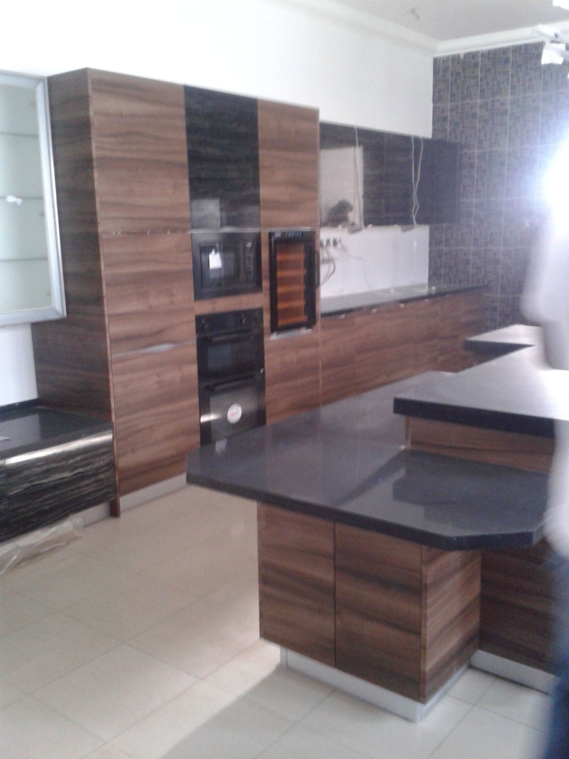 Kitchen Cabinet With Pvc And Laminated Finish For Nigeria Project