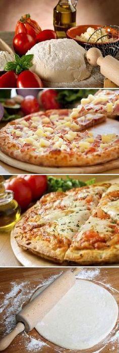 Masa De Pizza De 3 Ingredientes La Pizza Más Fácil De Tu Vida 30 Minutos O Menos Pizca De S Recetas Faciles Para Cocinar Como Hacer Pizza Recetas De Comida