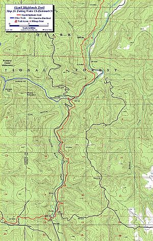 Free downloadable topo maps of the Ozark Highlands Trail