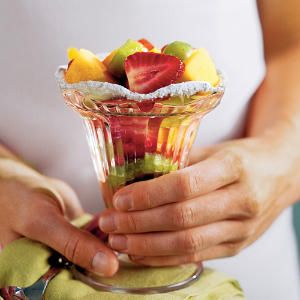 Fruitini - 16 Fresh Fruit Salad Recipes - Southernliving. Recipe: Fruitini  Make fruit salad fun by serving it in parfait or martini glasses. It will look just as good as it tastes.