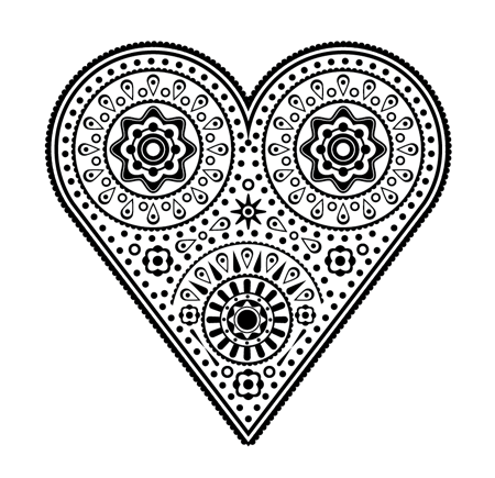How To Create an Intricate Vector Heart Illustration