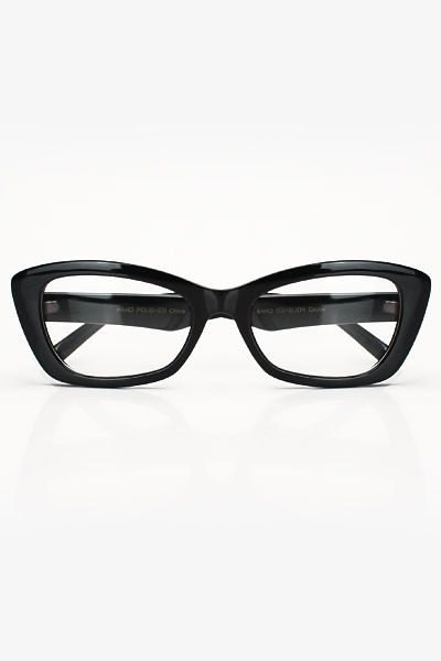 ec912609b4 Bold Pointy Cat Eye Clear Glasses - Black  1019-2