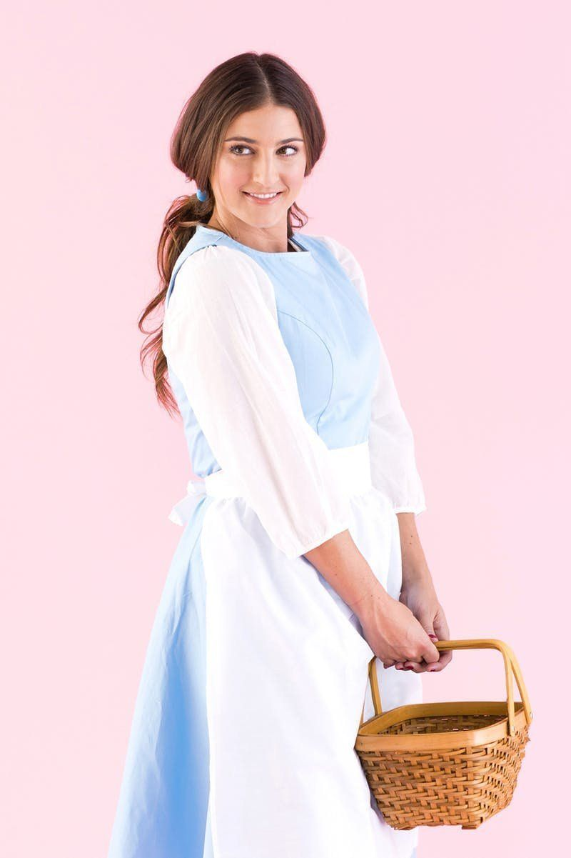 swooning over this beauty and the beast inspired diy belle halloween costume