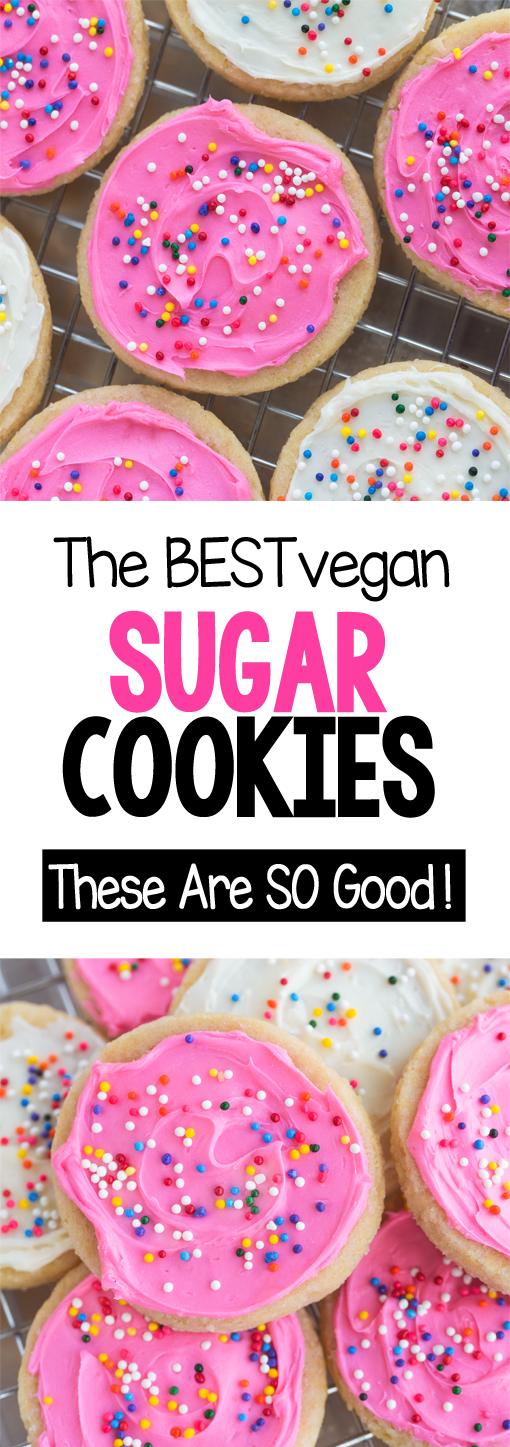 Vegan Sugar Cookies - The BEST Easy Recipe!