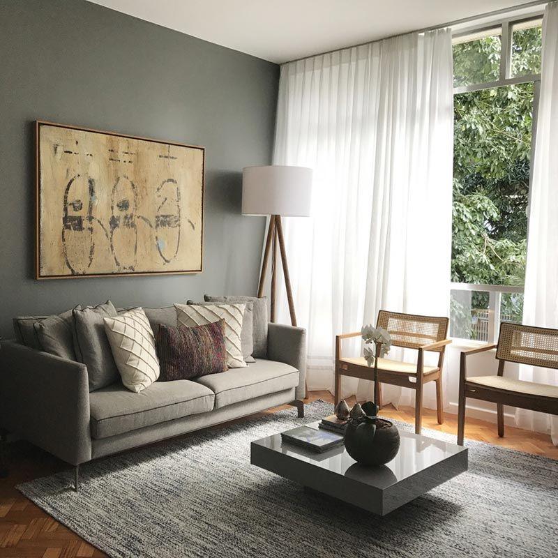 Decorao de sala com a cor cinza  my plan em 2019