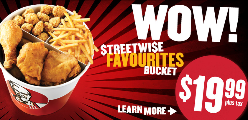 Wow treet wise favourites bucket just for kfc - Kentucky french chicken ...