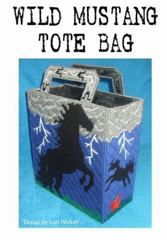 Wild Mustang tote 1/4
