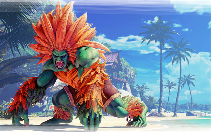 Download Wallpapers Blanka Fighting Game Fighter Street Fighter V Besthqwallpapers Com Street Fighter Wallpaper Street Fighter Art Street Fighter Characters