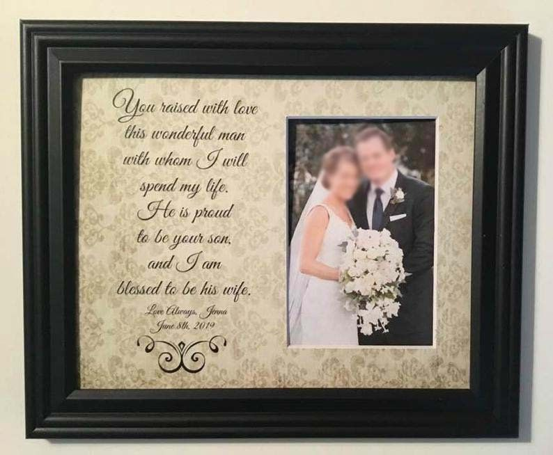 Mother In Law Wedding Gift for Mother of the Groom Handmade Wedding Gifts from PhotoFrameOriginals Custom Photo Mats