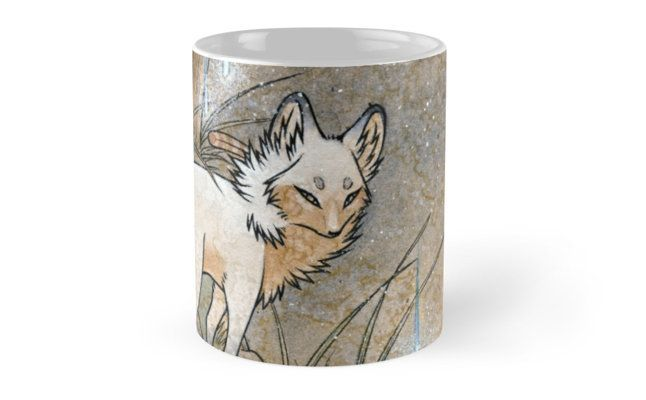 Fox & Wisps - Kitsune Yokai Foxfire  Mugs