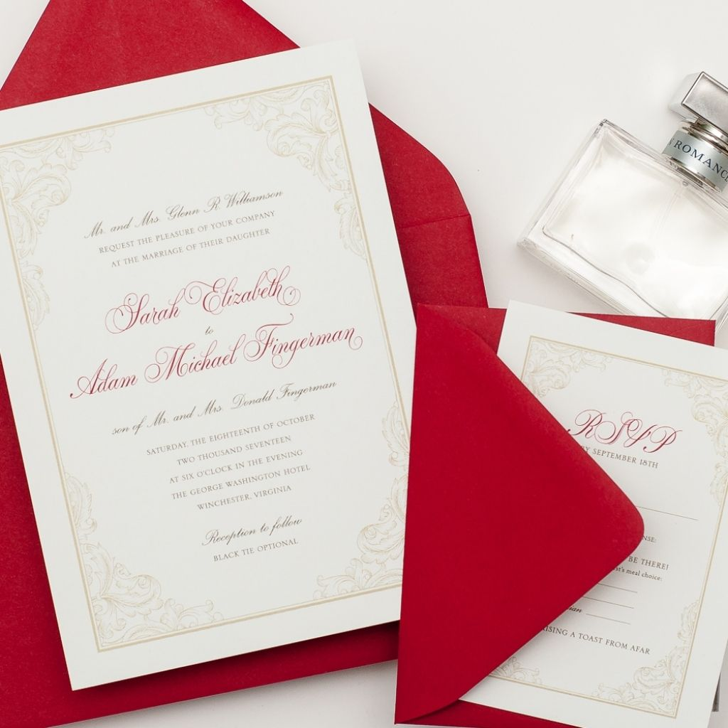 red and gold wedding invitations | Wedding | Pinterest | Gold ...