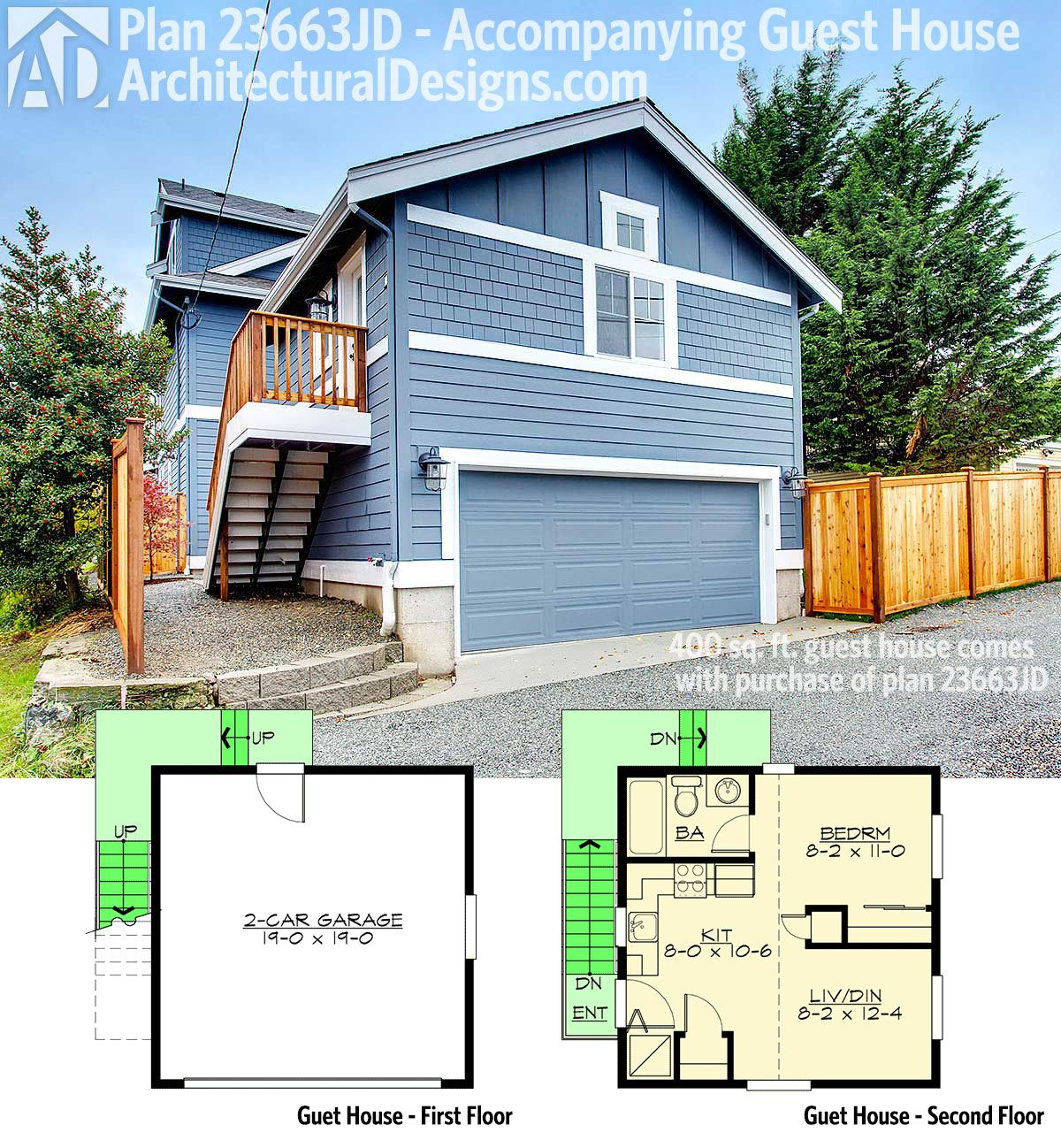 Picturesque Garage Apartment 43023pf: Craftsman Style Carriage House Plans
