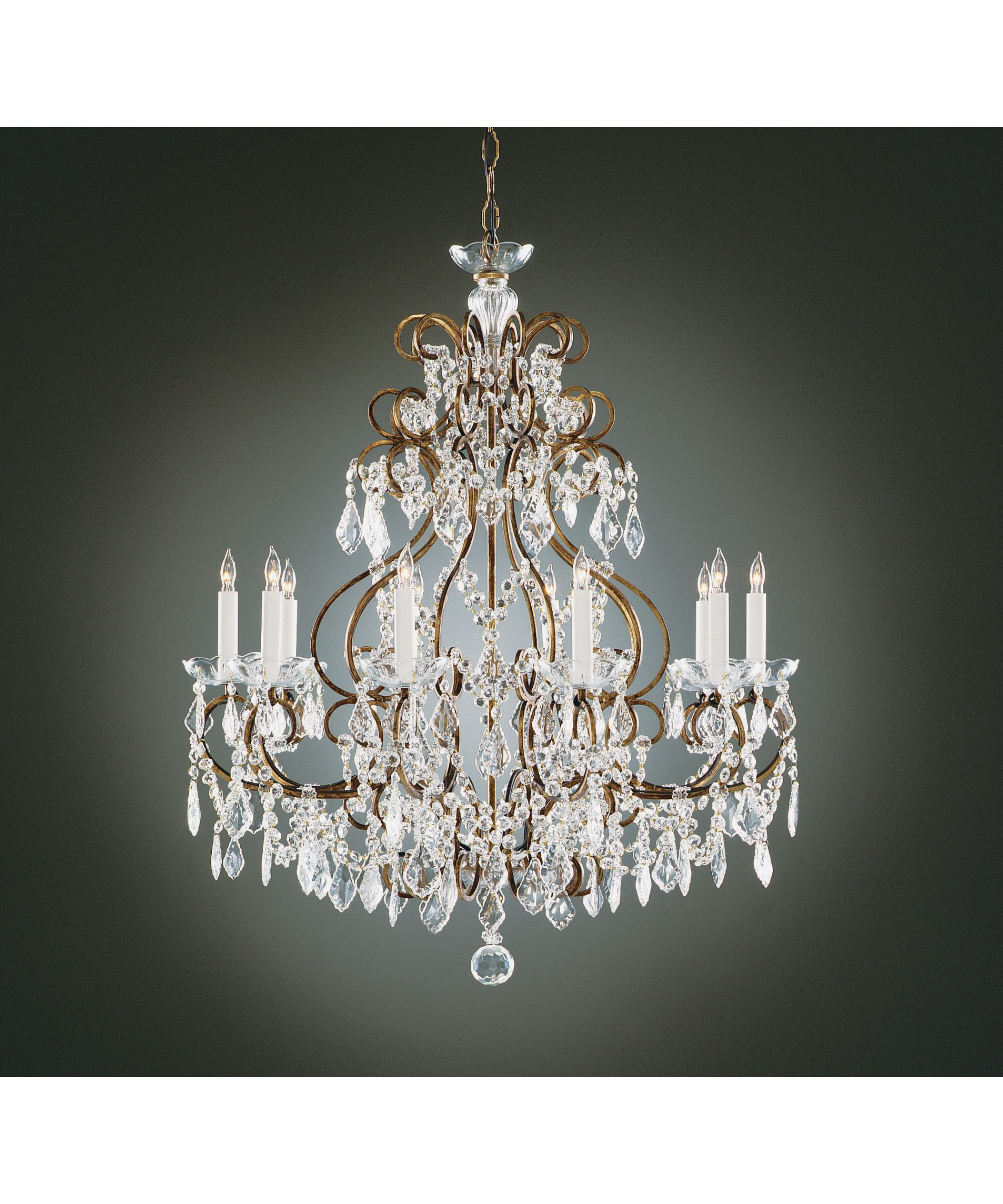 wildwood 2263 gold and crystals single tier chandelier capitol