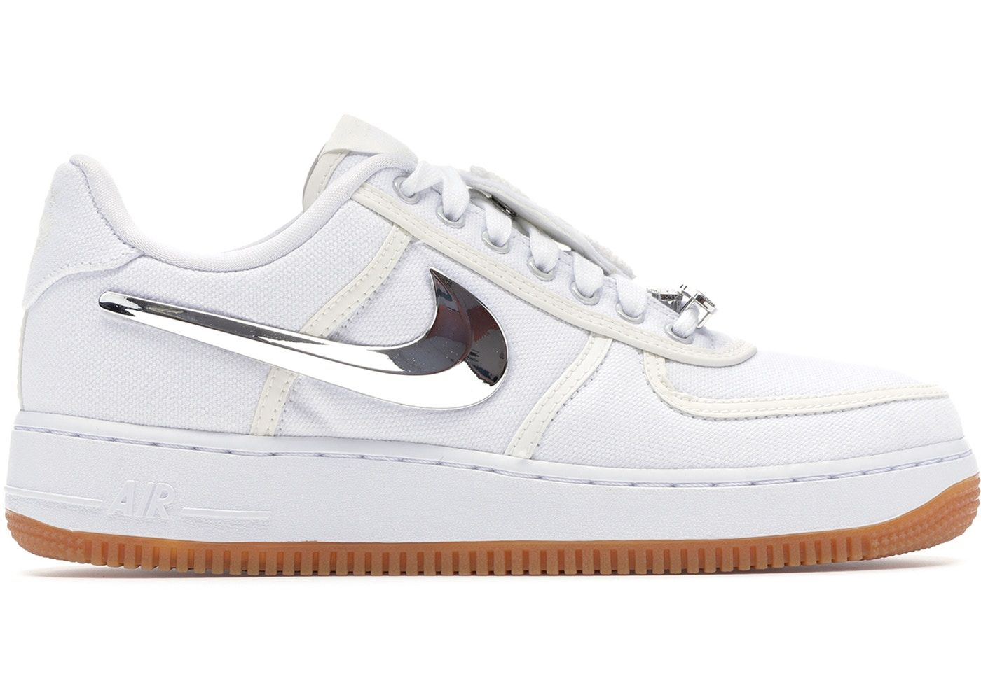These shoes are the Travis Scott airforce 1's. They did a