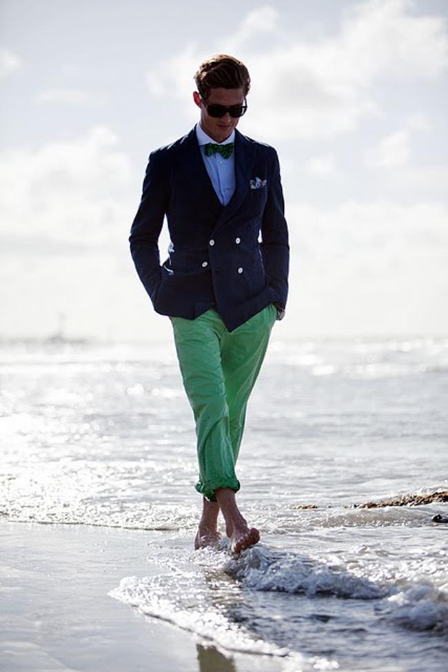 Belgian Dandy: Hackett Summer Look (navy blue blazer, bright green ...