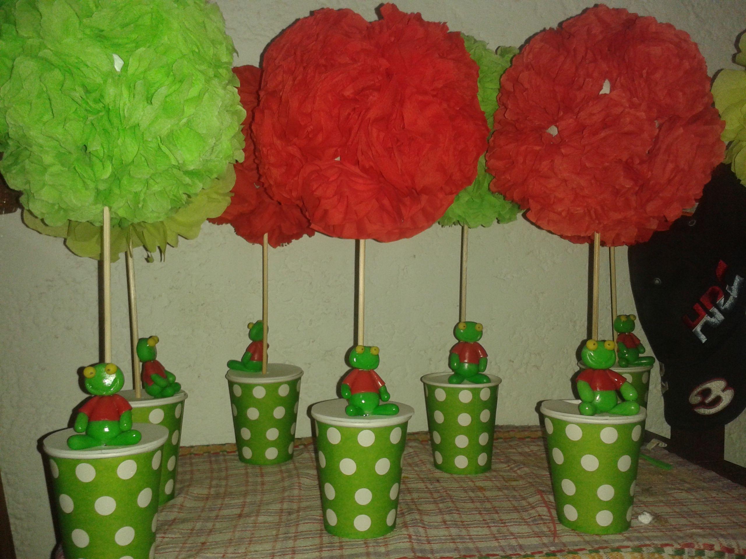 CENTROS DE MESA SAPO PEPE | centro de mesa infantil | Pinterest ...