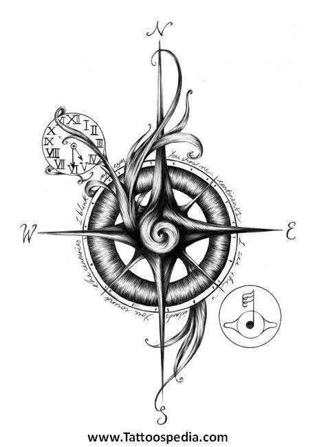 Boussole Tattoo Recherche Google Tatuirovka Strela