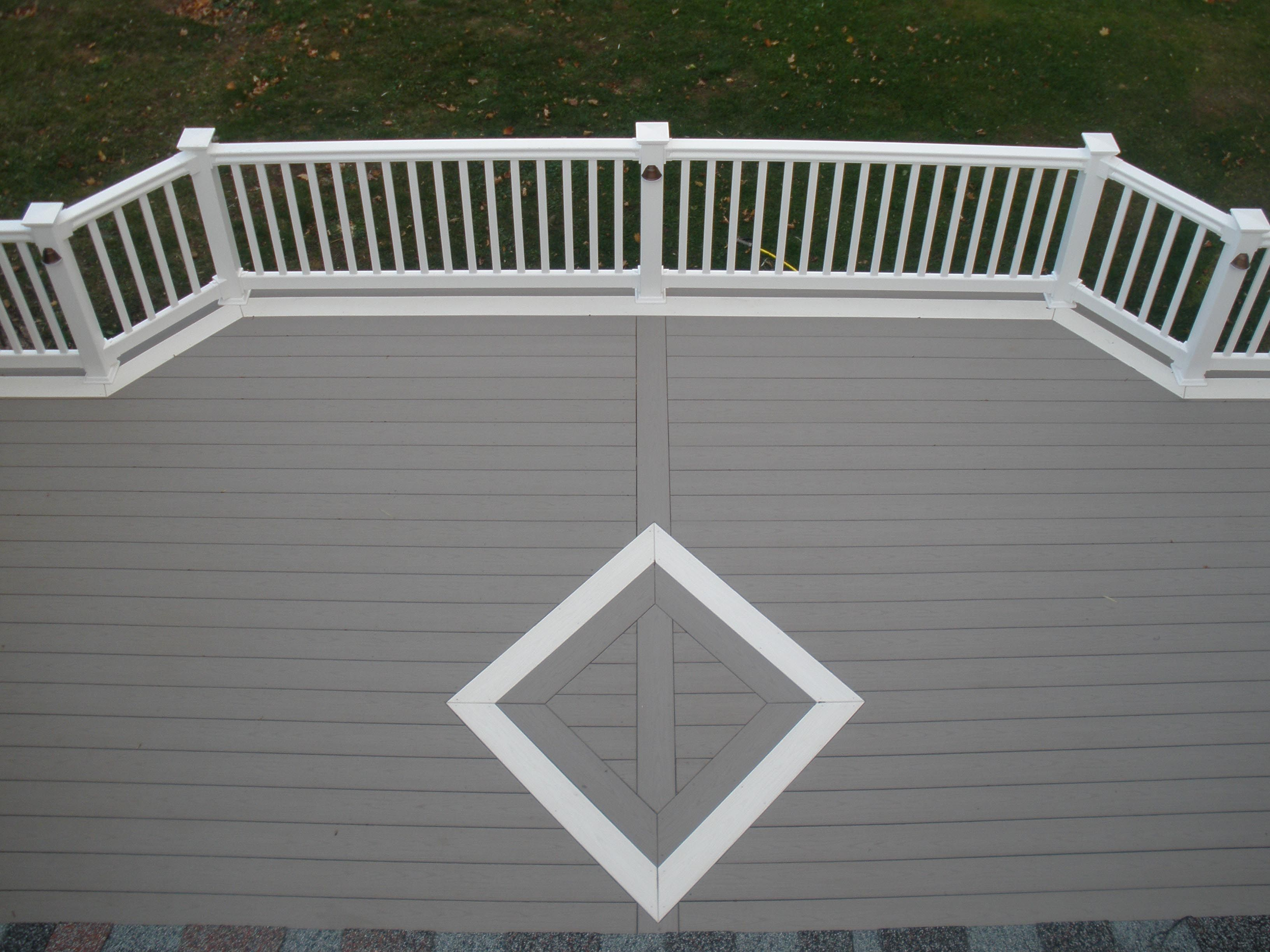 composite deck gray with white   Slate Gray Azek Deck with ...