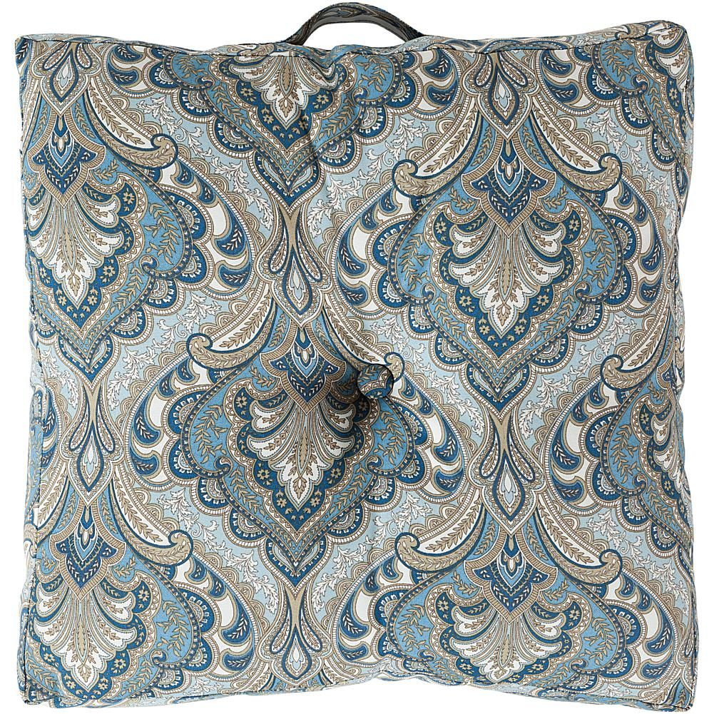 Surya Paisley Decorative IndoorOutdoor Floor Cushion GrayGrey