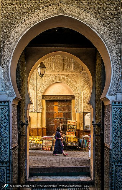 Life in the old medina . Fez