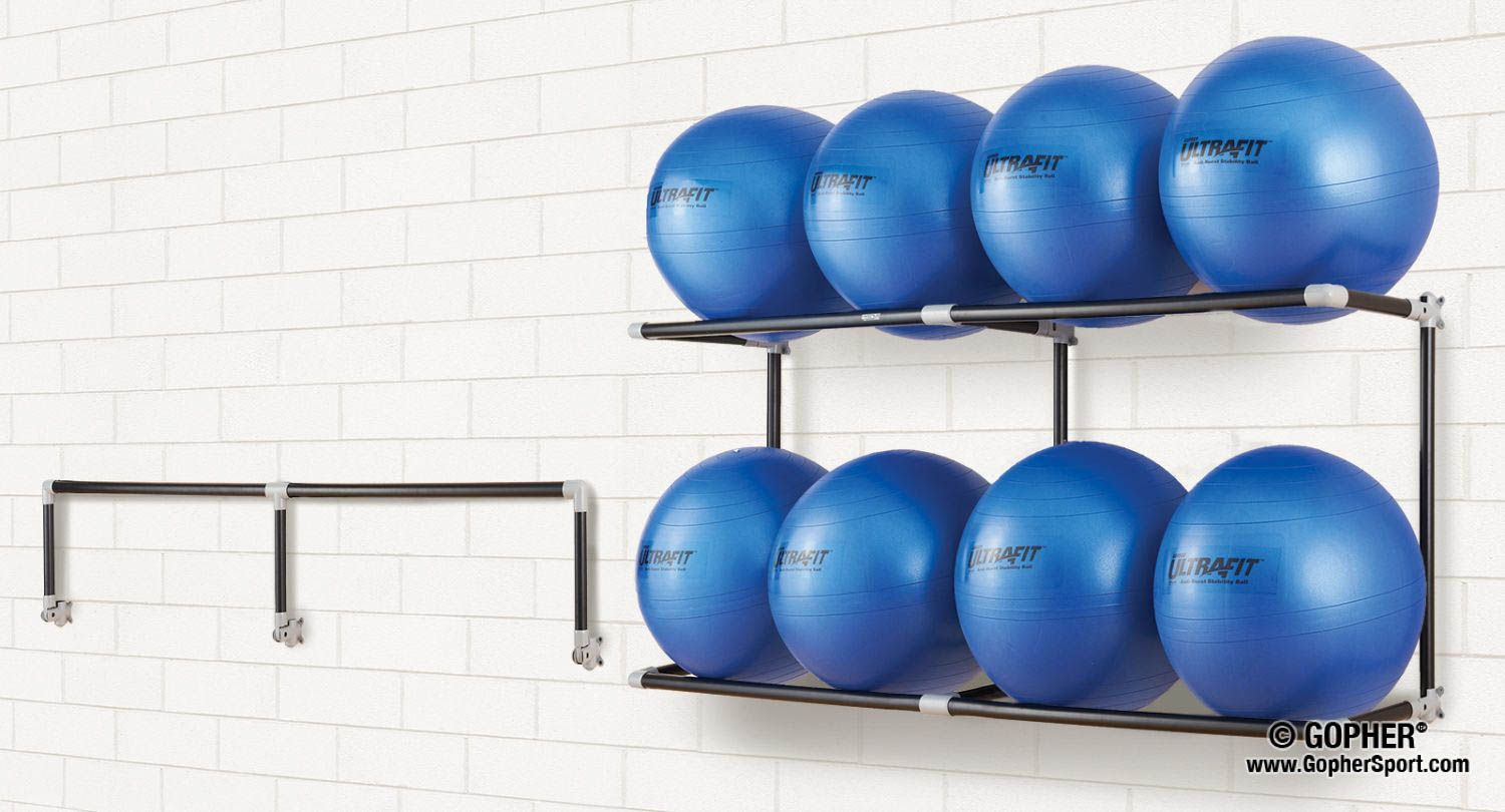 Don T Miss Out On The Latest In Space Saver Solutions From Gopher Sport Buy Long Lasting Stability Ball Racks For No Equipment Workout Ball Storage Gym Decor