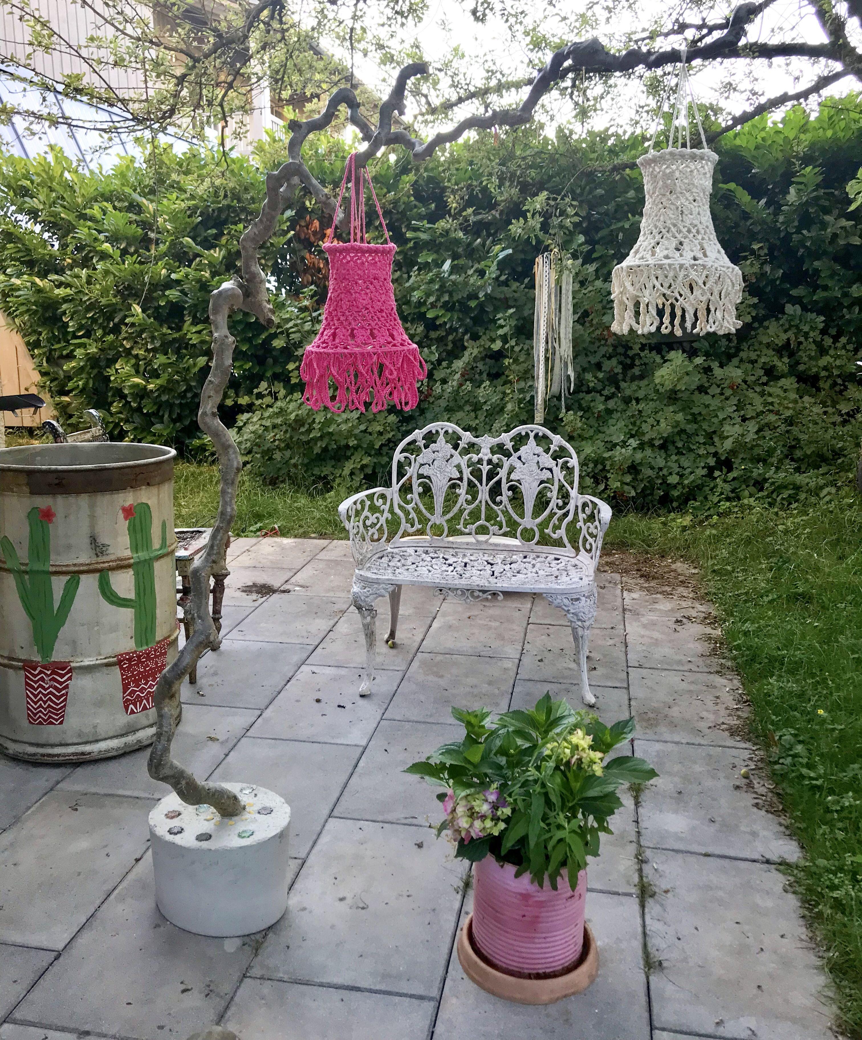 Bunte Terrassen Dekoration Dekoration Lieblingsfarbe Bunt