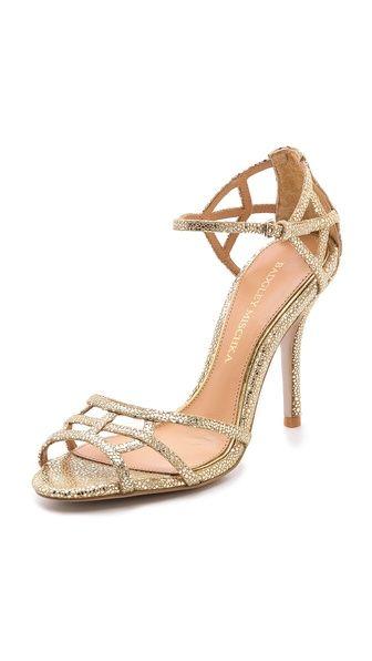 Badgley Mischka Kerrington Metallic Sandals #Heels