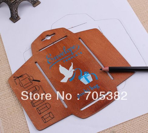 1PC New wooden envelope template, 157x153cm Manual stencil mould - shipping manual template