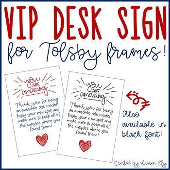 Vip Desk Sign For Ikea S Tolsby Frames Ikea Tolsby Frame