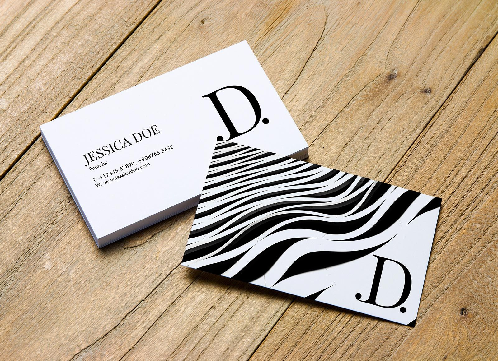 2 Beautiful Single Double Sided Business Card Mockup PSD Files