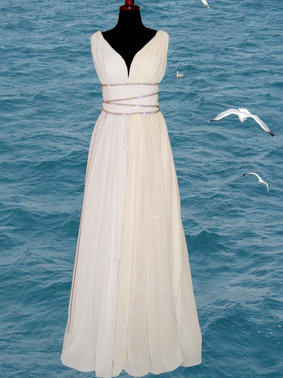 Greek goddess inspired dresses greek style wedding for Pin up inspired wedding dresses