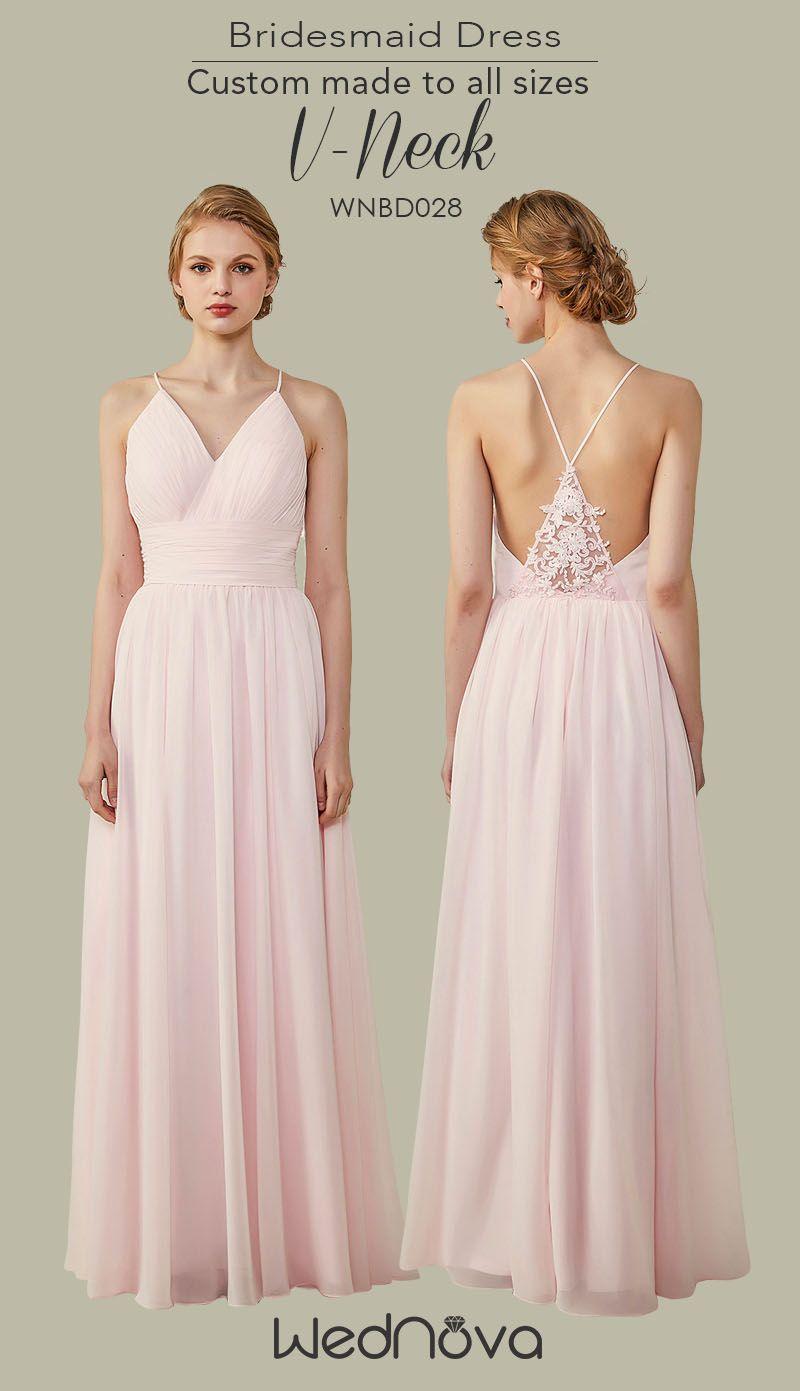 Bridesmaid Dress Pink Marshmallow With Chiffon Amazing Dresses Long Bridesmaiddresses