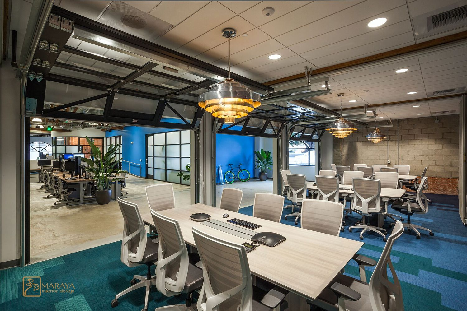 The Trade Desk Conference Rooms Open With Glass Garage