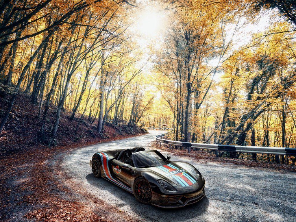 Outdoor Porsche 918 Spyder Sports Car Wallpaper Sports Car
