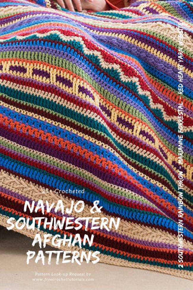 Navajo and Southwestern Style Afghan Patterns - 25+ Patterns ...