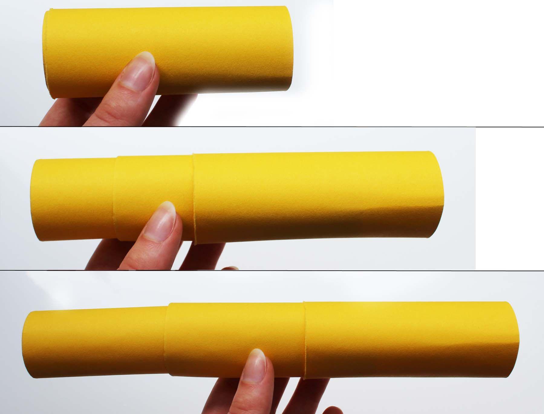 Ein ausziehbares fernrohr basteln nur mit tonpapier schere